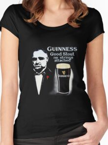 black glass of beer Women's Fitted Scoop T-Shirt