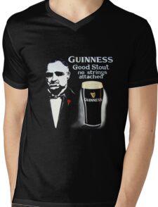 black glass of beer Mens V-Neck T-Shirt