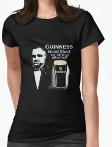 black glass of beer Womens Fitted T-Shirt
