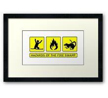 Hazards of the Fire Swamp Framed Print