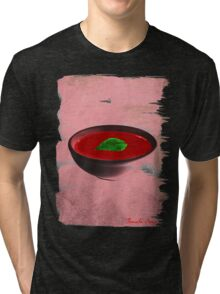 tomato soup in a bowl / No Logo pop art Tri-blend T-Shirt