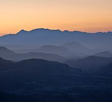Orange Dawn by Olwen Evans