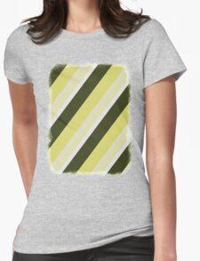 Cactus Garden Stripes 3D Womens Fitted T-Shirt