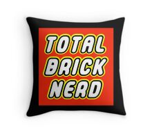 TOTAL BRICK NERD Throw Pillow