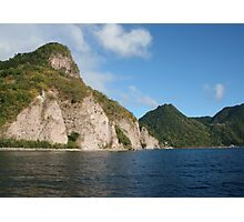 Coastline of Dominica, West Indies Photographic Print