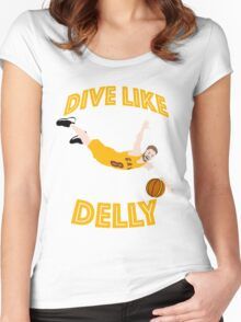 Dive Like Delly Women's Fitted Scoop T-Shirt