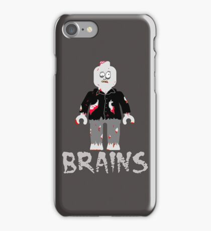 BRAINS ZOMBIE MINIFIG iPhone Case/Skin