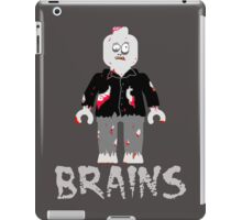 BRAINS ZOMBIE MINIFIG iPad Case/Skin