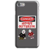 DANGER ZOMBIE OUTBREAK iPhone Case/Skin