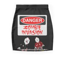 DANGER ZOMBIE INVASION Mini Skirt