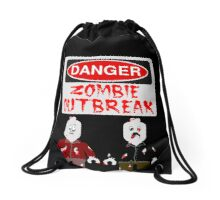 DANGER ZOMBIE OUTBREAK Drawstring Bag