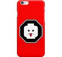 RUDE MINIFIG HEAD ROADSIGN iPhone Case/Skin