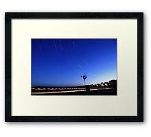 Countryside Startrails Framed Print