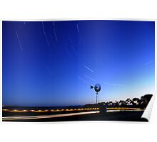 Countryside Startrails Poster