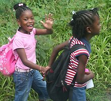 Heading off to School in Grenada by Laurel Talabere