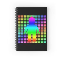 Rainbow Minifig in Front of Buttons Spiral Notebook