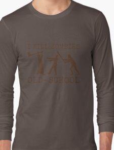 Funny Retro Old School Zombie Killer Hunter 2 Long Sleeve T-Shirt