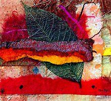 Leaf Skeleton Collage by Dana Roper