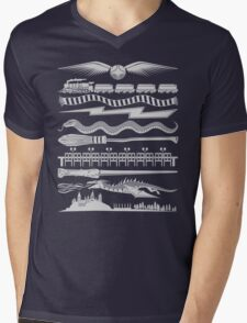 Wizard Whimsy Mens V-Neck T-Shirt