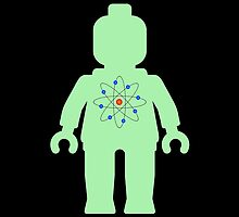 Minifig with Atom Symbol  by Customize My Minifig