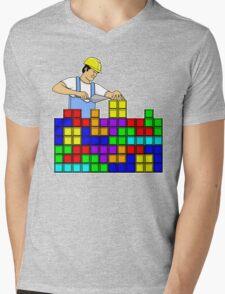 Brick Layer Mens V-Neck T-Shirt