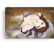 Such a Beautiful Fake - When downstairs it's supposed to be about screaming. Canvas Print