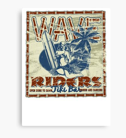 wave riders tiki bar Canvas Print