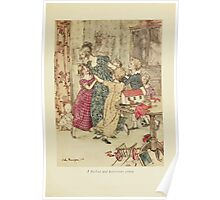 A Christmas Carol by Charles Dickens art by Arthur Rackham 1915 0089 A Flushed and Boisterous Group Poster