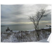 Kennebunkport, Maine   Winter Scene Poster