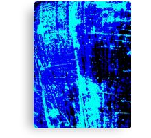 Blue Black Abstract Canvas Print