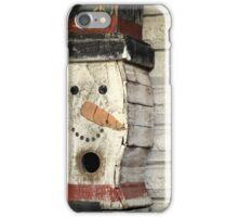 Snowman Birdhouse iPhone Case/Skin