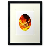 Flaming Charizard Framed Print
