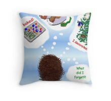 Belated Holiday Greeting Throw Pillow