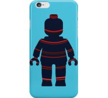 Minifig with Curved Stripes iPhone Case/Skin