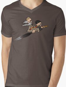 Master and Wizard Mens V-Neck T-Shirt