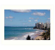 Puerto Rico beach 2 Art Print