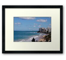 Puerto Rico beach 2 Framed Print