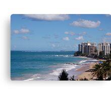 Puerto Rico beach 2 Canvas Print