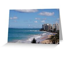 Puerto Rico beach 2 Greeting Card