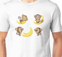 Monkey with Banana Unisex T-Shirt