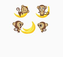 Monkey with Banana Unisex T-Shirt
