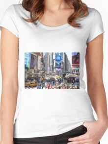 Times Square In Minature Women's Fitted Scoop T-Shirt