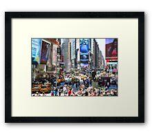 Times Square In Minature Framed Print