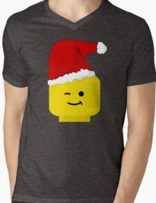 Santa Minifig by Customize My Minifig Mens V-Neck T-Shirt