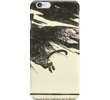 Snowdrop & Other Tales by Jacob Grimm art Arthur Rackham 1920 0122 Witch Riding a Tom Cat iPhone Case/Skin