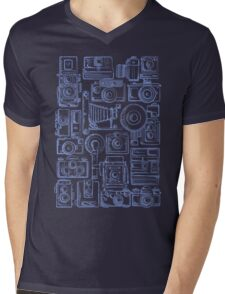 Paparazzi Blue Mens V-Neck T-Shirt