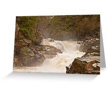 Frothy Granite Falls (Washington State) Greeting Card