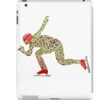 Speed skating iPad Case/Skin