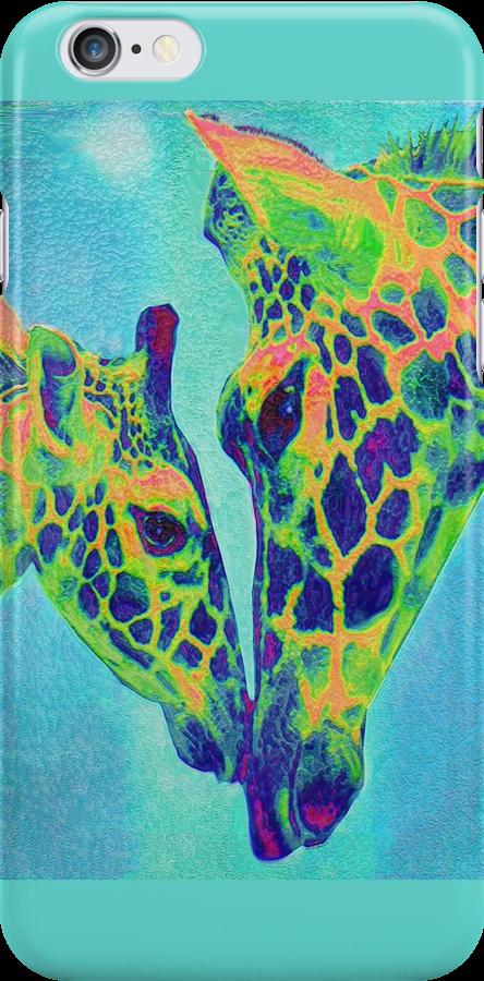 blue giraffes iphone by jashumbert