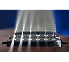 Guitar pickup and neck Photographic Print